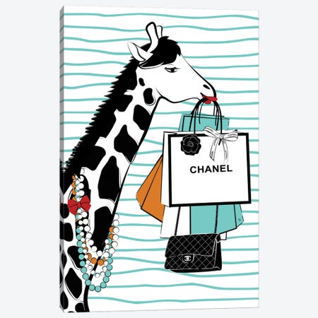 Giraffe Canvas Print #PAV320} by Martina Pavlova Canvas Art