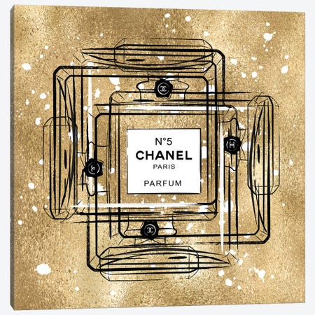 Golden Chanel Canvas Print #PAV321} by Martina Pavlova Canvas Art