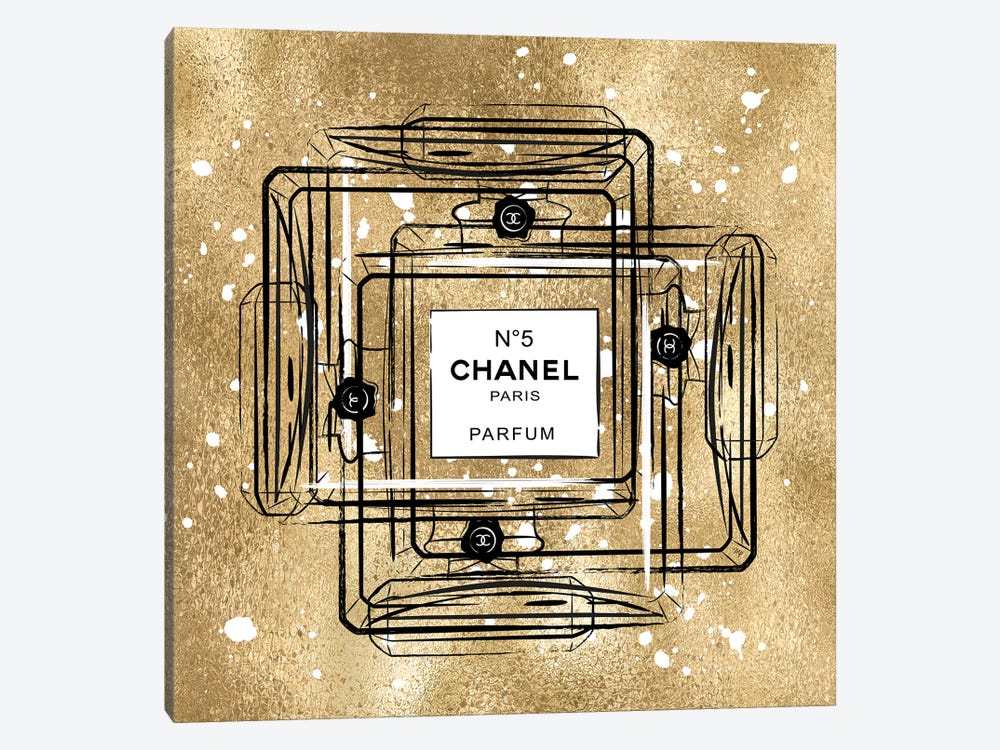Golden Chanel by Martina Pavlova 1-piece Canvas Art Print