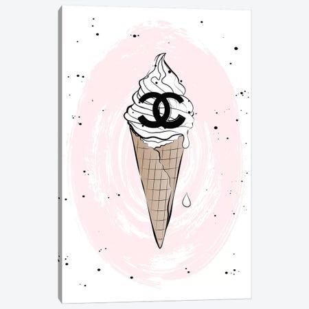 Ice Cream Canvas Print #PAV325} by Martina Pavlova Art Print