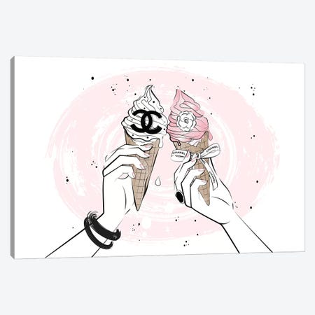 Ice Cream Cheers Canvas Print #PAV326} by Martina Pavlova Canvas Art Print
