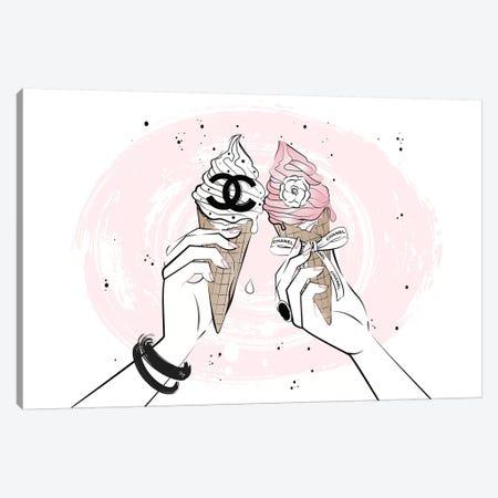 Ice Cream Cheers Canvas Print #PAV326} by Martina Pavlova Canvas Art Print