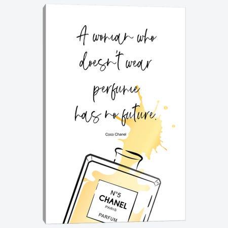 Perfume Quote Canvas Print #PAV332} by Martina Pavlova Canvas Art Print