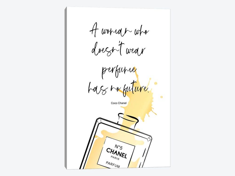 Perfume Quote by Martina Pavlova 1-piece Canvas Art Print