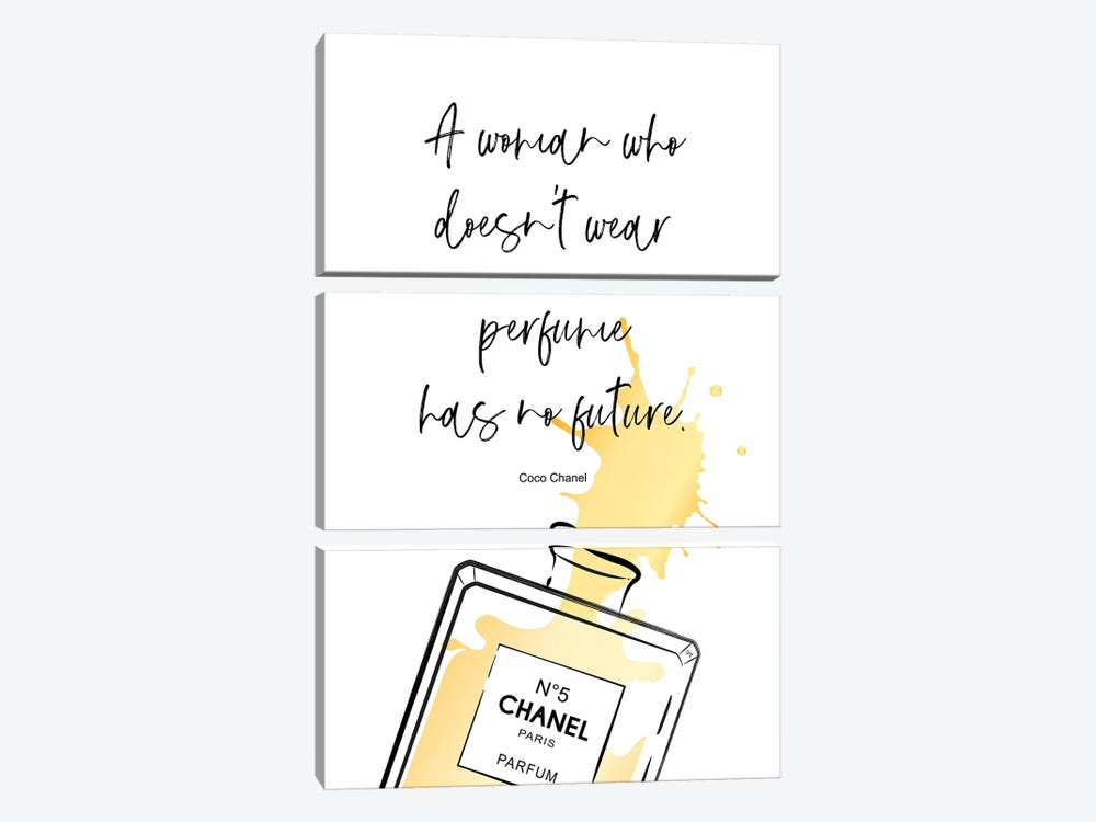 Perfume Quote by Martina Pavlova 3-piece Art Print