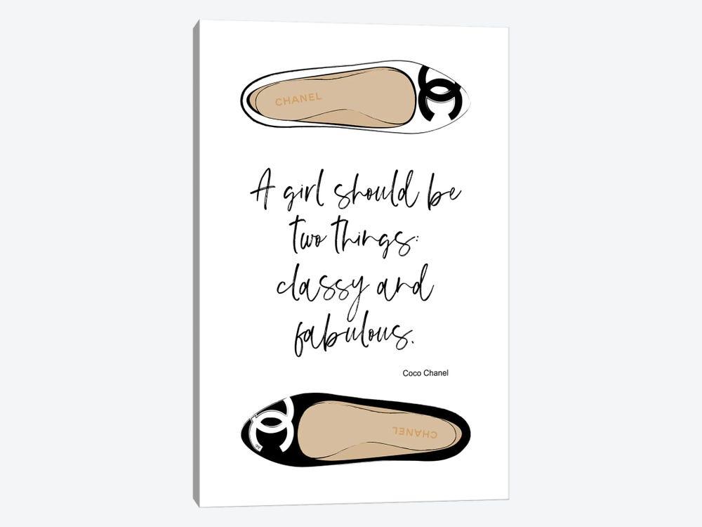 Shoes Quote Art Print By Martina Pavlova Icanvas