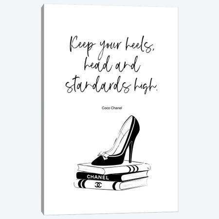 Stiletto Quote Canvas Print #PAV337} by Martina Pavlova Canvas Artwork
