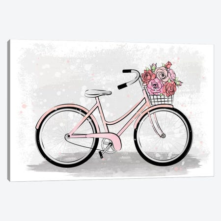 Grey Bike Canvas Print #PAV368} by Martina Pavlova Canvas Art