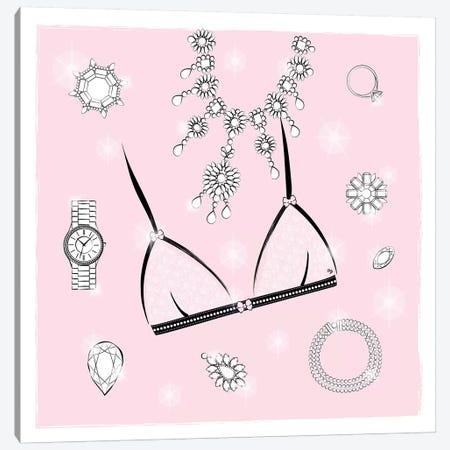 Pink Bra Canvas Print #PAV372} by Martina Pavlova Canvas Print