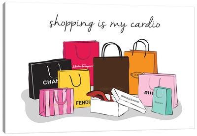 Shopping Cardio Canvas Art Print