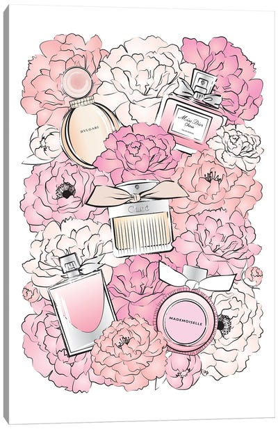 Peony Perfumes Canvas Art Print
