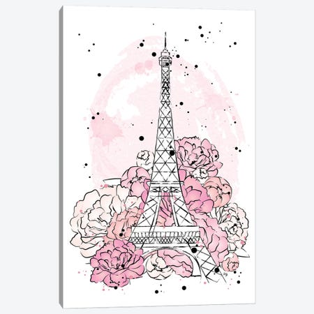 Peony Paris Canvas Print #PAV382} by Martina Pavlova Canvas Artwork