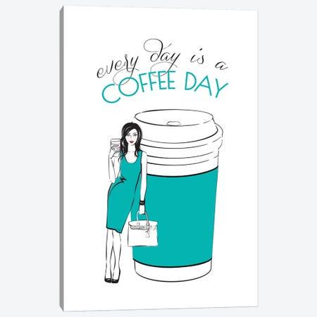 Coffee Day Canvas Print #PAV398} by Martina Pavlova Art Print