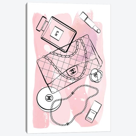 Pink Chanel Canvas Print #PAV39} by Martina Pavlova Art Print