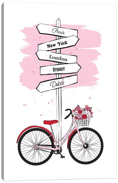 Bike Travels Canvas Art Print