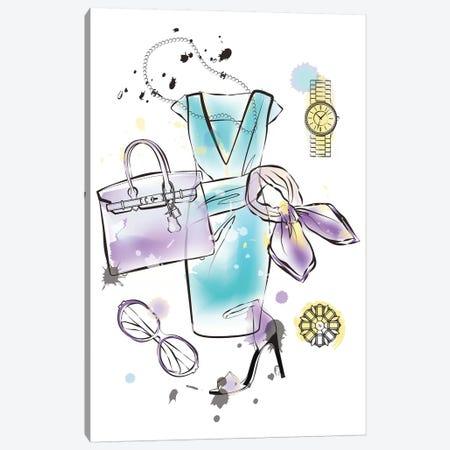 Fashion Flatlay Canvas Print #PAV400} by Martina Pavlova Art Print