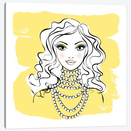 Yellow Beads Canvas Print #PAV411} by Martina Pavlova Canvas Wall Art
