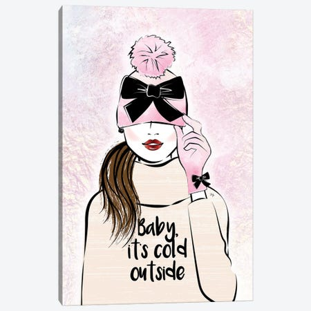 Baby, It's Cold Outside Canvas Print #PAV413} by Martina Pavlova Canvas Art