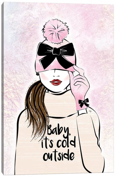 Baby, It's Cold Outside Canvas Art Print