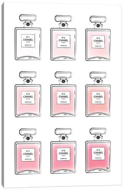 Pink Perfumes Canvas Art Print
