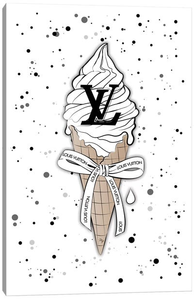 Louis Vuitton Ice Cream Canvas Art Print