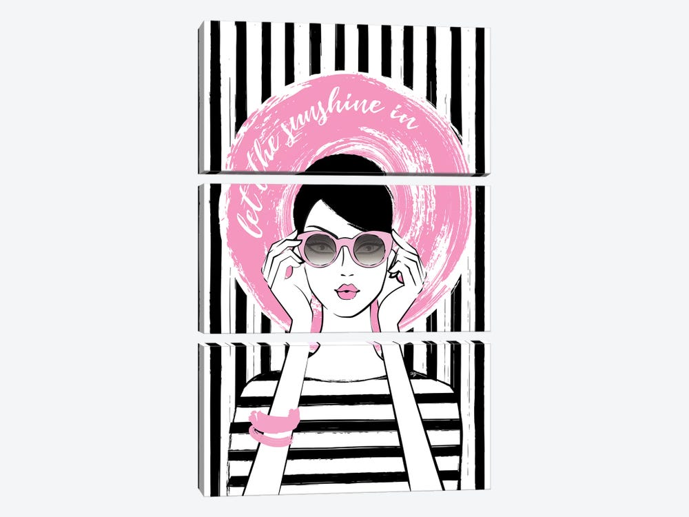Sunshine Girl I by Martina Pavlova 3-piece Art Print
