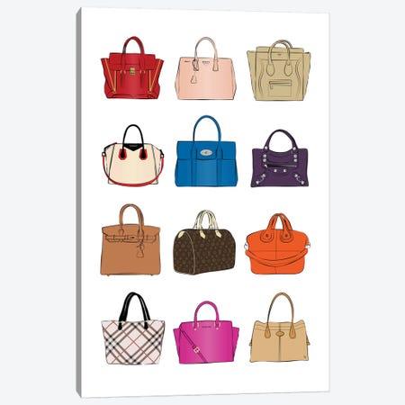 Designer Bags Canvas Print #PAV430} by Martina Pavlova Canvas Artwork