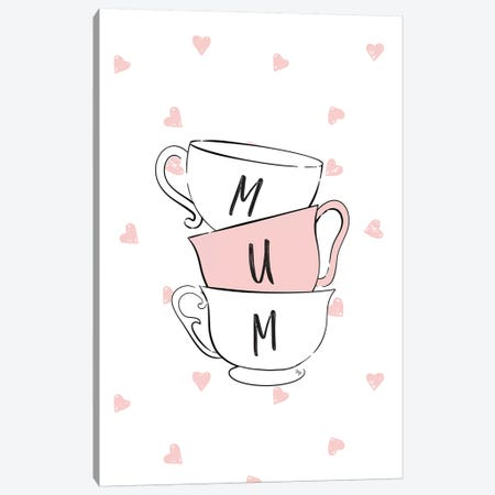 Mum Cups Canvas Print #PAV438} by Martina Pavlova Canvas Art