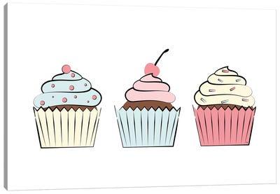 Three Cupcakes Canvas Art Print