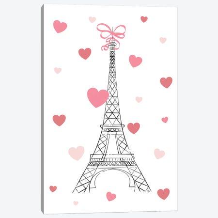 Love In Paris Canvas Print #PAV447} by Martina Pavlova Canvas Wall Art