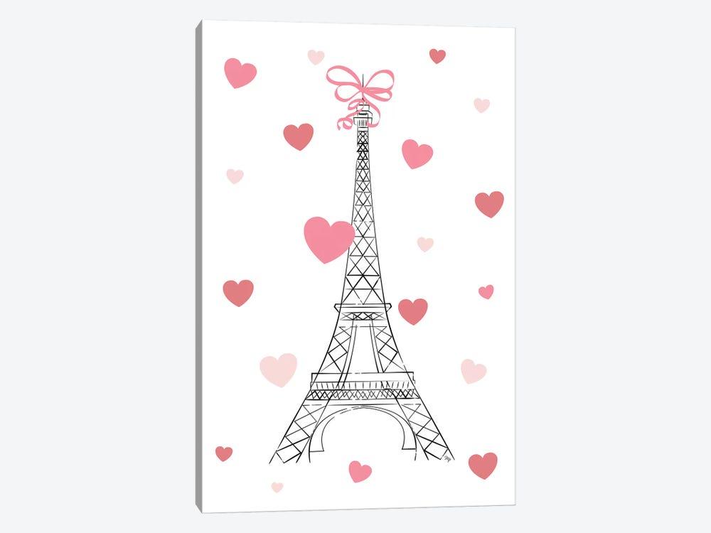 Love In Paris by Martina Pavlova 1-piece Canvas Artwork