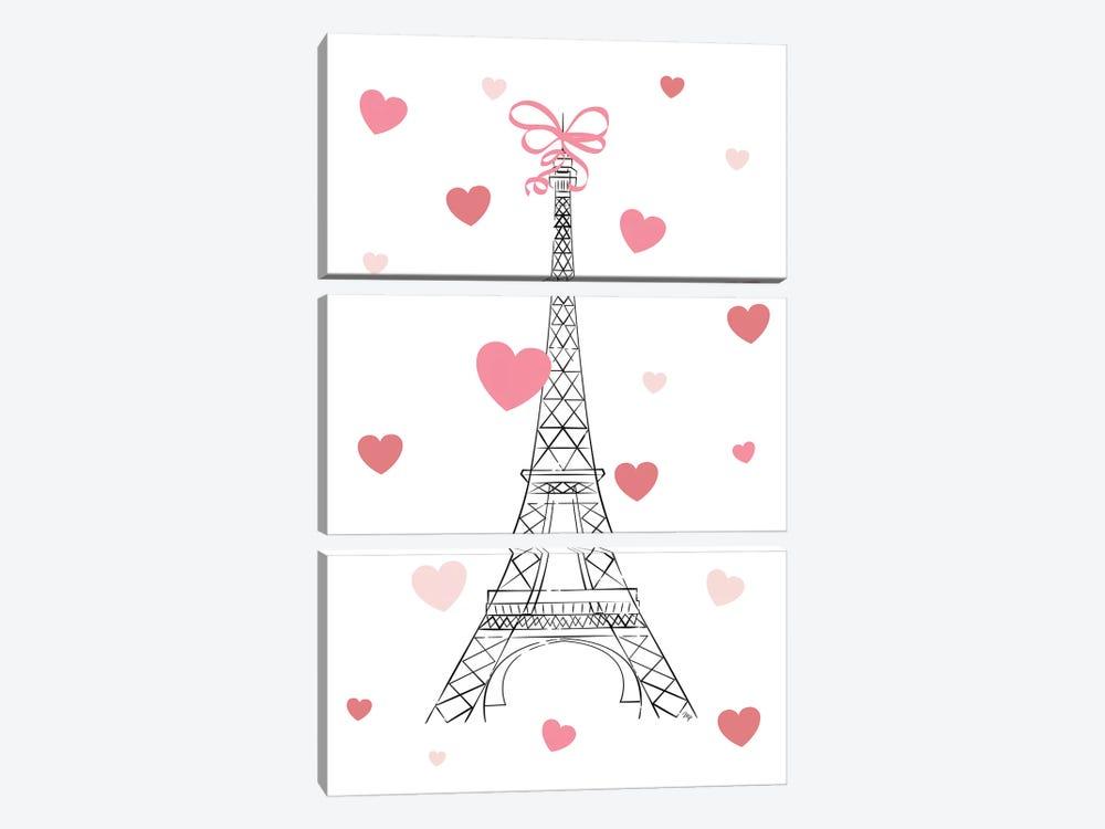 Love In Paris by Martina Pavlova 3-piece Canvas Artwork