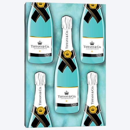 Tiffany Bottles Canvas Print #PAV448} by Martina Pavlova Canvas Print