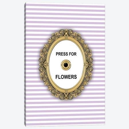 Flowers Button Canvas Print #PAV449} by Martina Pavlova Canvas Print