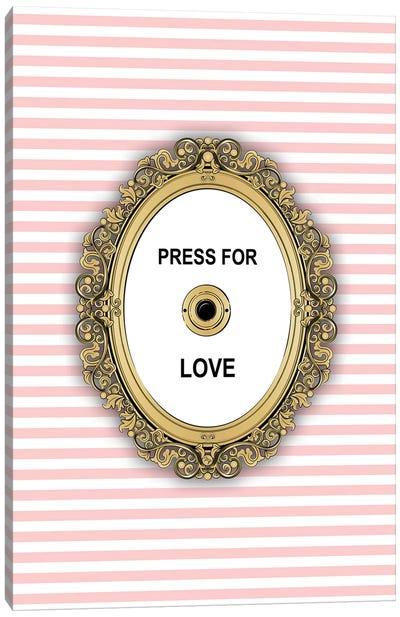 Love Button Canvas Art Print