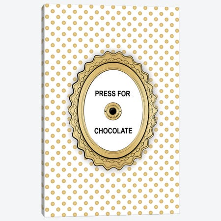 Press For Chocolate Canvas Print #PAV454} by Martina Pavlova Art Print