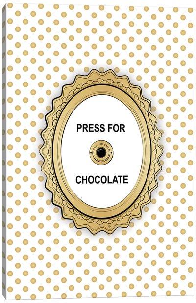 Press For Chocolate Canvas Art Print