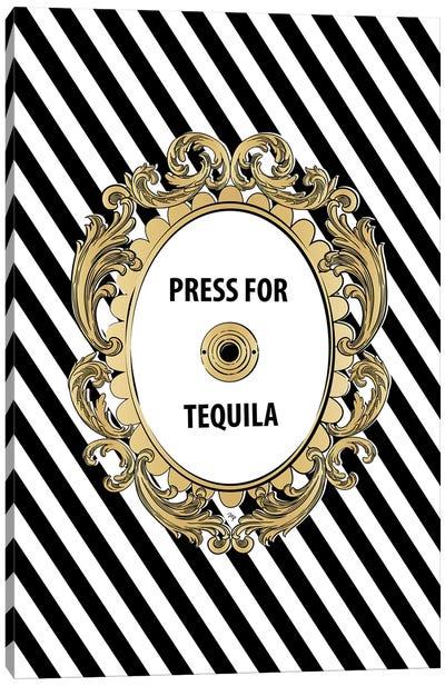 Tequila Button Canvas Art Print