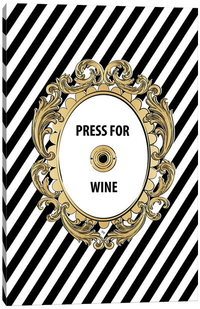 Wine Button Canvas Art Print