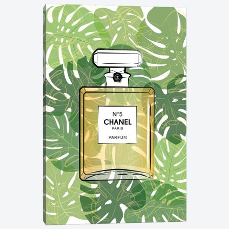 Tropical Chanel Canvas Print #PAV46} by Martina Pavlova Art Print