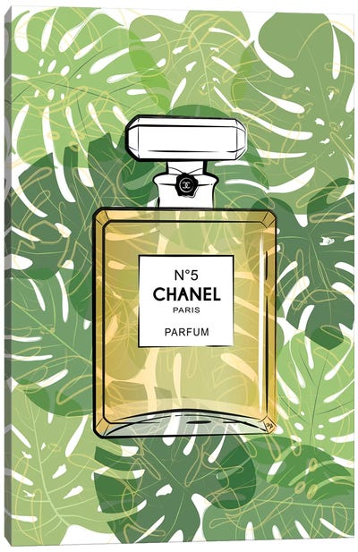 Tropical Chanel Canvas Art Print