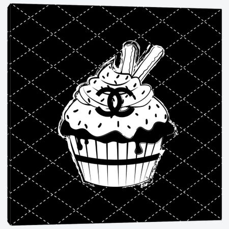 Chanel Cupcake Canvas Print #PAV475} by Martina Pavlova Art Print