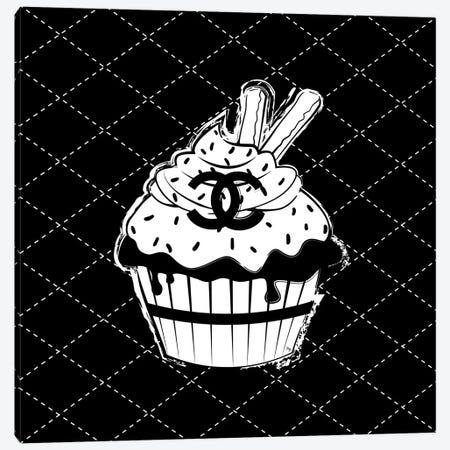 Chanel Cupcake 3-Piece Canvas #PAV475} by Martina Pavlova Art Print