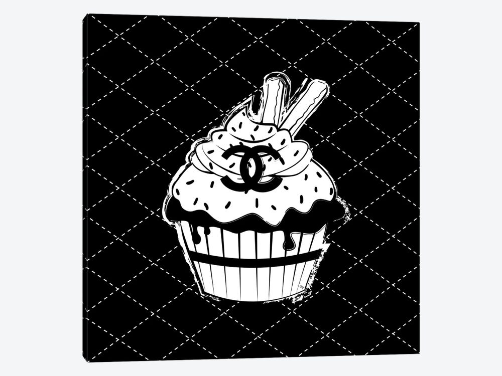 Chanel Cupcake by Martina Pavlova 1-piece Canvas Art Print