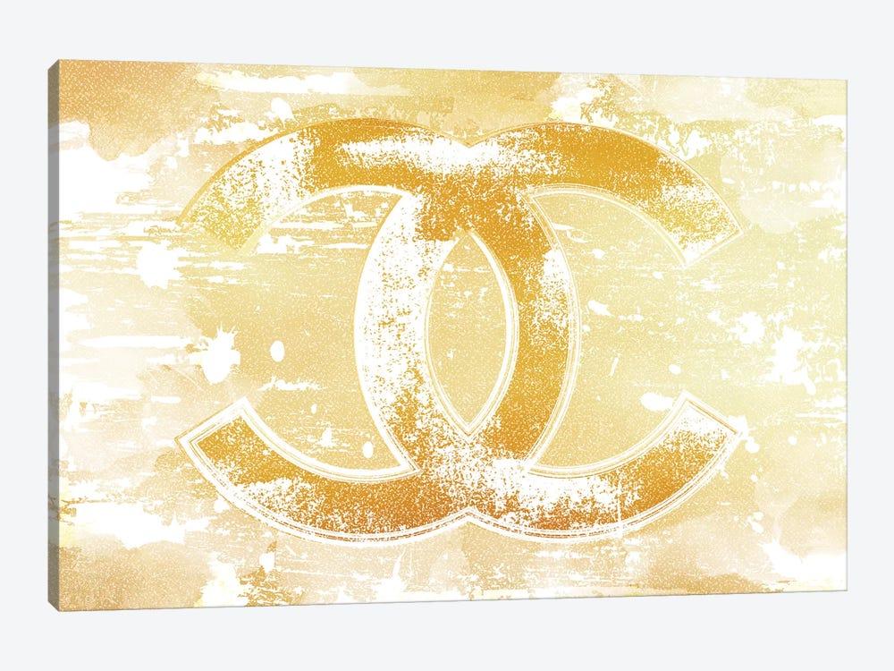 Chanel Logo Gold by Martina Pavlova 1-piece Canvas Print