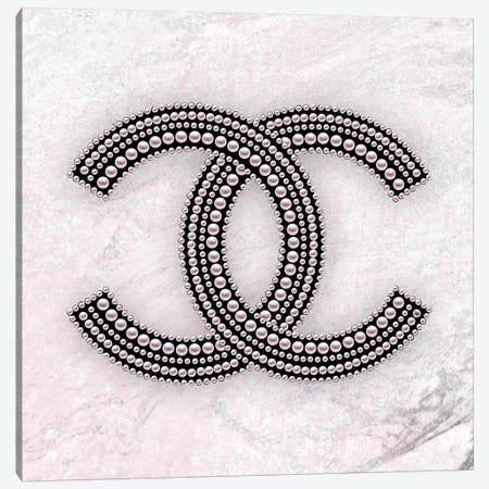 Chanel Logo Pink Canvas Print #PAV481} by Martina Pavlova Canvas Art Print