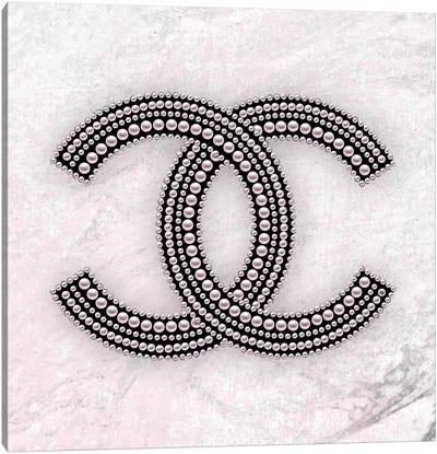 Chanel Logo Pink Canvas Art Print