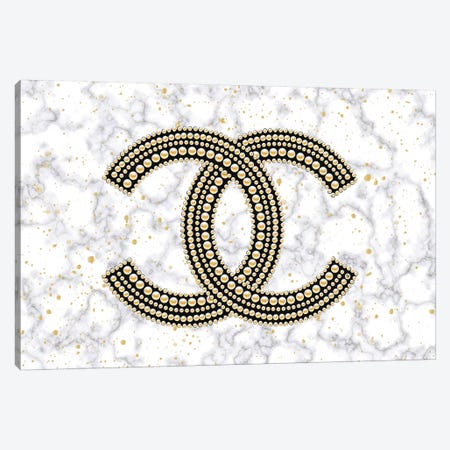 Chanel On Marble Canvas Print #PAV482} by Martina Pavlova Canvas Art Print