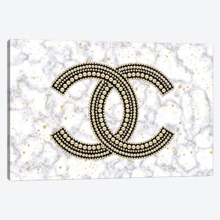 Chanel On Marble Canvas Print #PAV482} by Martina Pavlova Canvas Art Print