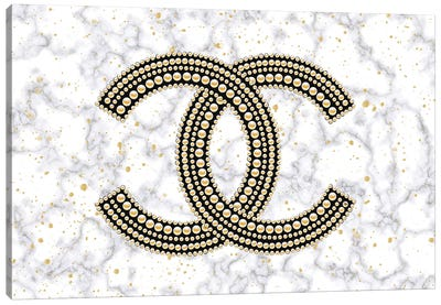 Chanel On Marble Canvas Art Print